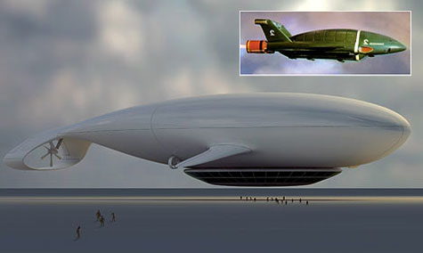 Manned Cloud: The flying hotel Thunderbird 2 Airship » image 1