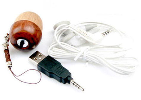 Mini Wooden Acorn 1GB MP3 Player » image 3
