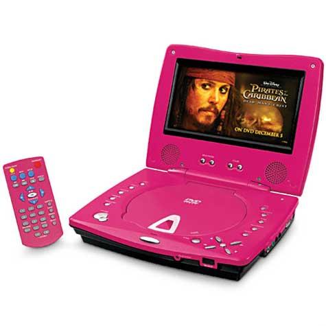 Pink Durabrand Portable DVD Player » image 1