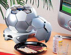 Silver Soccer Ball Cooler » image 2