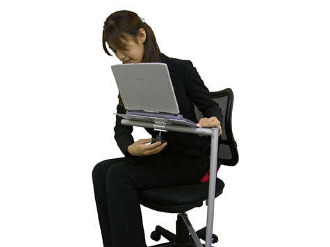 Chair-Desk for Economizing Office Space » image 3