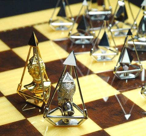 Charles Hollander New Gold & Diamond Chess Set » image 1
