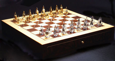 Charles Hollander New Gold & Diamond Chess Set » image 3