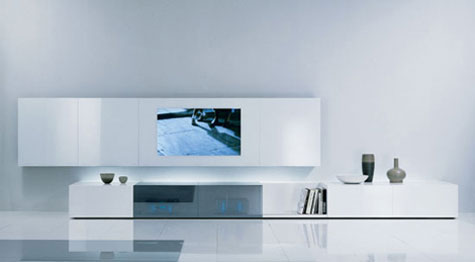 Contemporary Wall Unit with Audio/Video Unit with Concealed Loud Speakers » image 1