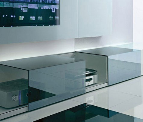 Contemporary Wall Unit with Audio/Video Unit with Concealed Loud Speakers » image 2