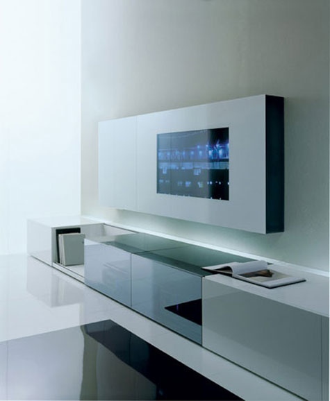 Contemporary Wall Unit with Audio/Video Unit with Concealed Loud Speakers » image 3