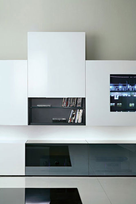 Contemporary Wall Unit with Audio/Video Unit with Concealed Loud Speakers » image 4