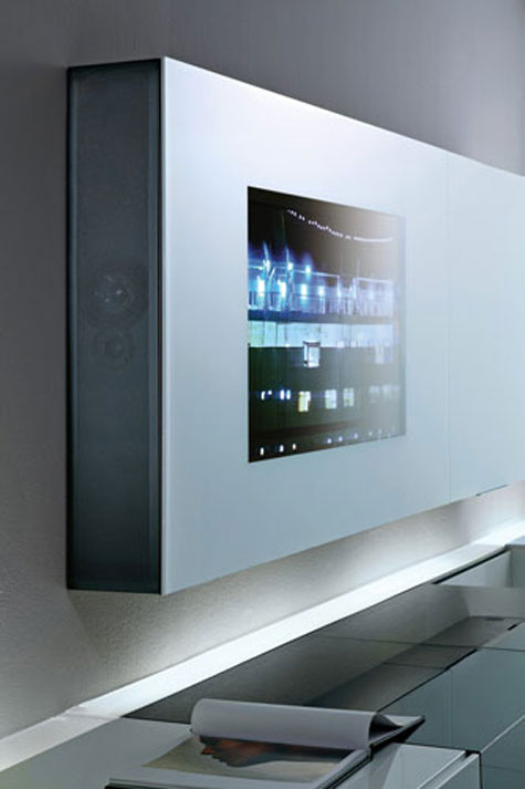 Contemporary Wall Unit with Audio/Video Unit with Concealed Loud Speakers » image 5
