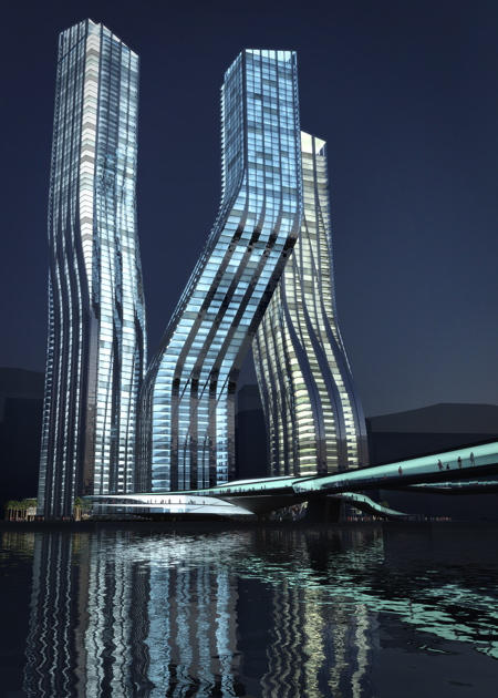 Dancing towers, Dubai, by Zaha Hadid » image 1