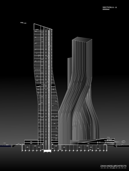 Dancing towers, Dubai, by Zaha Hadid » image 5