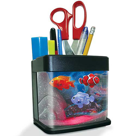 Desk Aquarium! Fish Swim When You Drop In A Pen! » image 1