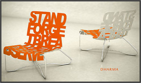 Dharma Lounge: Seat Made of Words » image 1