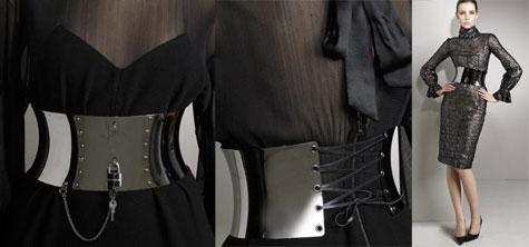 Dolce & Gabbana Metallic Lace Dress & Corset Belt » image 1
