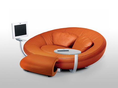DS 152 Oval Entertainment Sofa » image 1