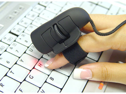 Logisys Black Optical Finger Mouse » image 1