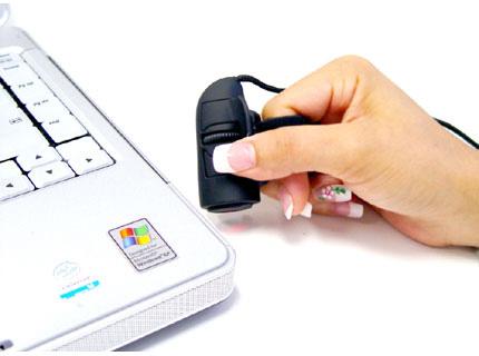 Logisys Black Optical Finger Mouse » image 2