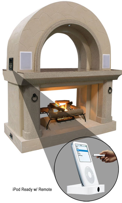 Fireplace FRP4300 With Built-In IPod Station & Speakers » image 1