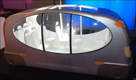 Futuristic Electric Bus » image 1