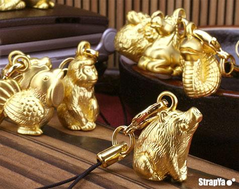24K Gold Horoscope Phone Straps » image 1