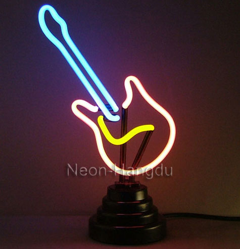 Neon Sculpture GUITAR,Novelty Lamp,Gadget,Decorative » image 1