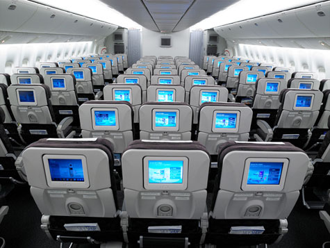 Korean Air Coach Cabin With LCD Touch Screen » image 1