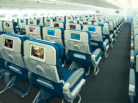 Korean Air Coach Cabin With LCD Touch Screen » image 3