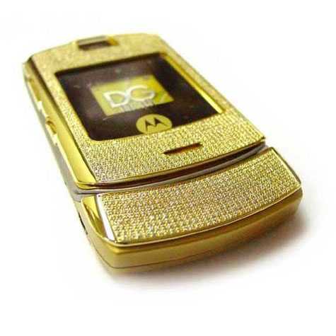Motorola V3i - Stainless Steel Gold With 855 Diamonds » image 1