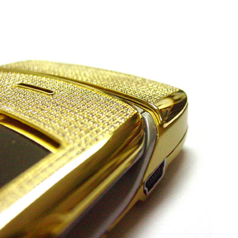 Motorola V3i - Stainless Steel Gold With 855 Diamonds » image 2