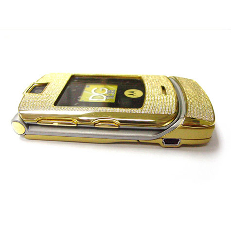 Motorola V3i - Stainless Steel Gold With 855 Diamonds » image 3