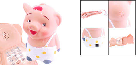 Novelty Gadget Ms. Piggy Corded Telephone KXT-112  » image 1