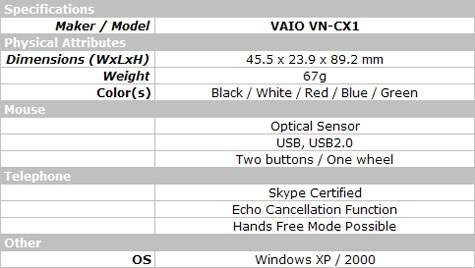 SONY VAIO VOIP MOUSE  » image 4