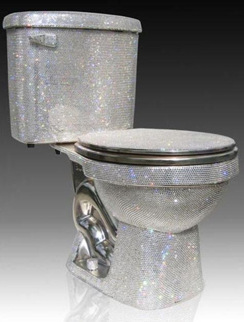 Swarovski-Studded Toilet » image 1
