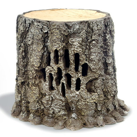 125 & 250-Watt Outdoor Stereo Speaker Is Hidden In A Natural-Looking Tree Stump » image 1