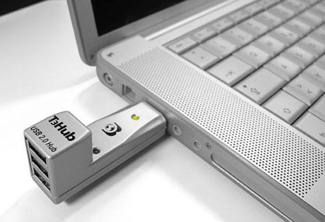 Laptops:Ultracompact USB 2.0 T3Hub » image 1