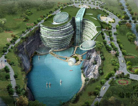 Luxury Waterfall Quarry In China » image 2